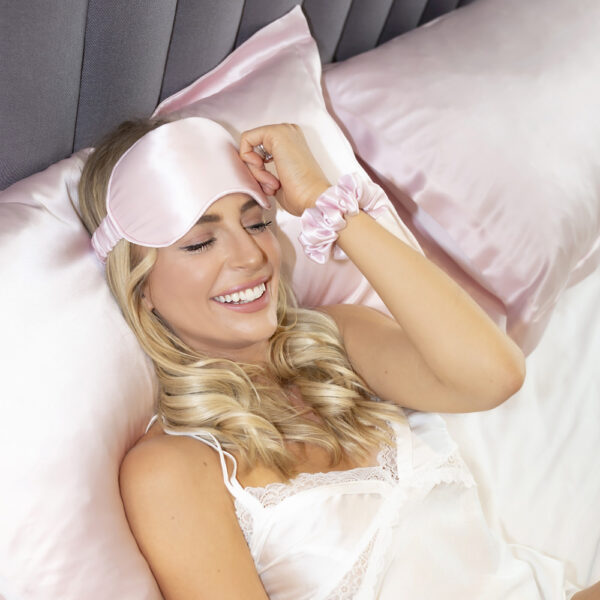 english rose eye mask and pillow case and scrunchie