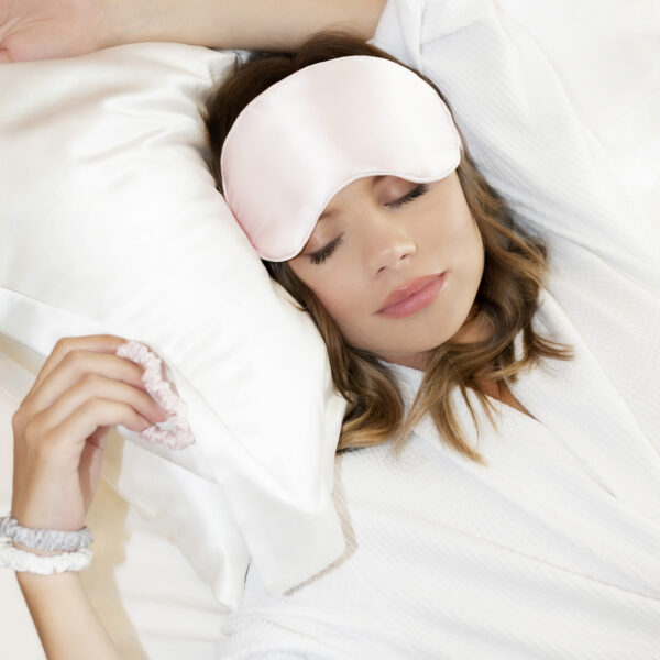 white oxford silk pillowcase