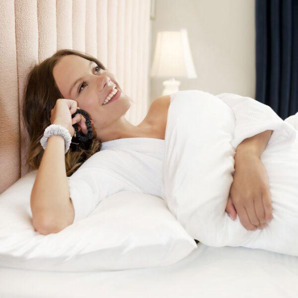 white silk pillow case standard